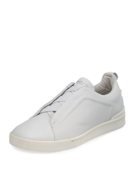 Couture Men's Triple-Stitch Leather & Suede Low-Top Sneaker,