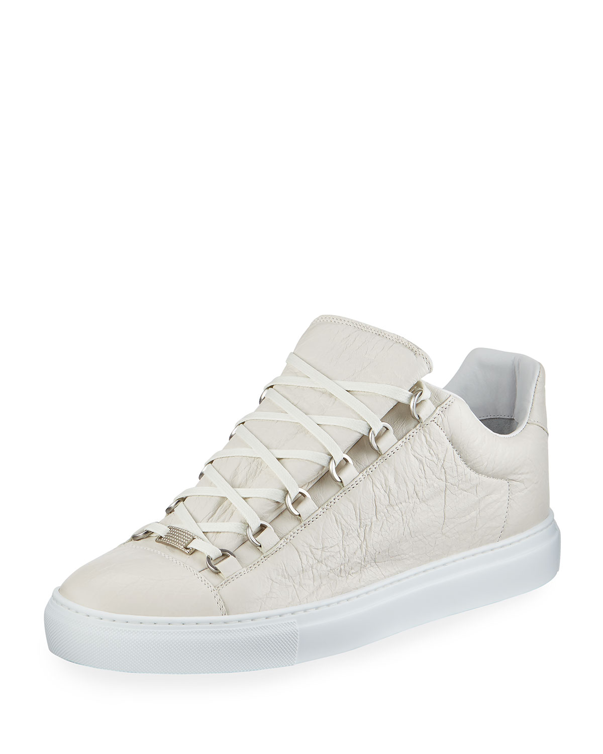 d973b861d8fd Balenciaga Men s Arena Leather Low-Top Sneakers