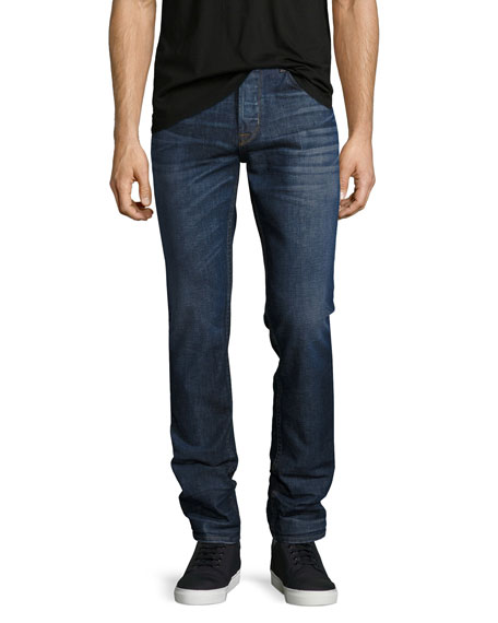 Sartor Slouchy-Skinny Jeans, Blue