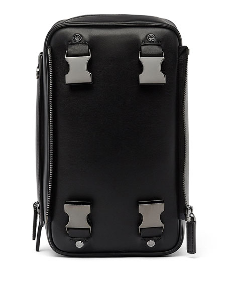 x CR Collection Leather Jet Pack, Black
