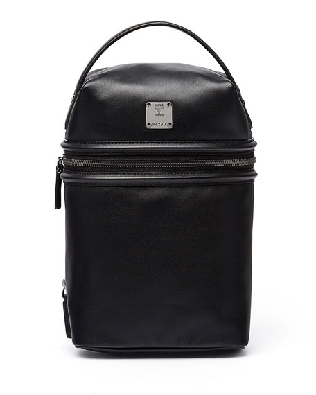 x CR Collection Leather Top-Handle Jet Pack, Black