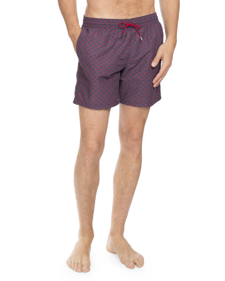 Berluti Printed Swim Trunks, Navy