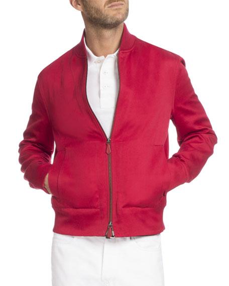 Berluti Blouson Bomber Jacket, Red