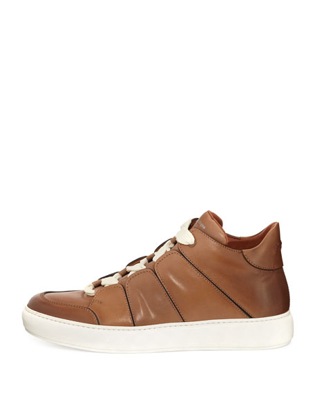 Men's Tiziano Runway Leather High-Top Sneakers