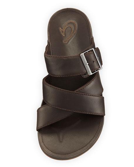 Kaupe'a Leather Slide Sandal
