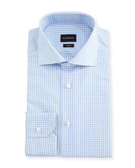 Ermenegildo Zegna Trofeo® Check Cotton Dress Shirt