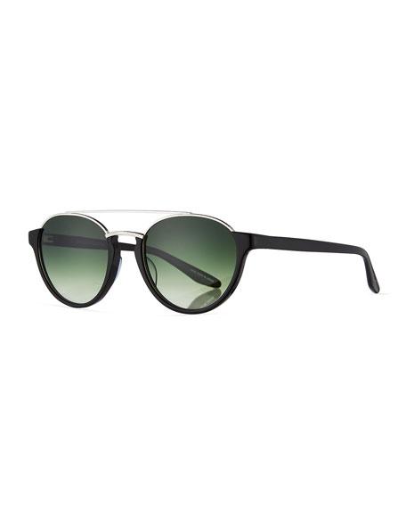 Barton Perreira Boleyn Half-Rim Acetate & Titanium Sunglasses,