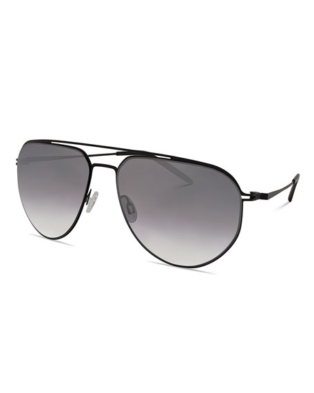Barton Perreira Men's B010 Mirrored Aviator Sunglasses, Matte