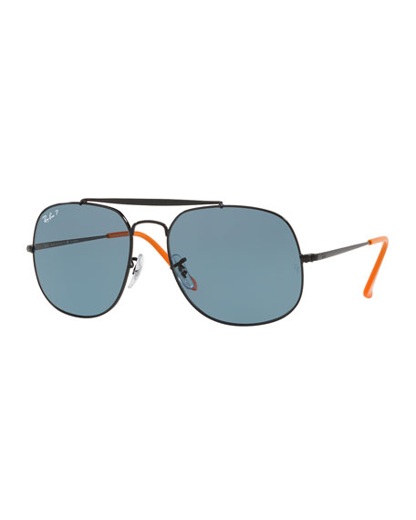 The General Aviator Polarized  Sunglasses, Black