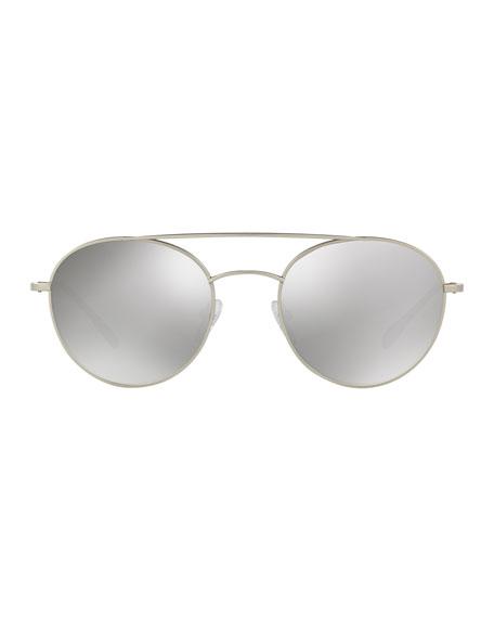 Men's Mirrored Round Phantos Aviator Sunglasses