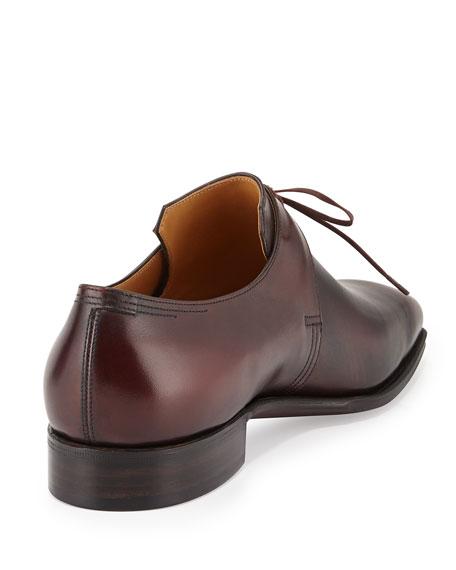Arca Calf Leather Derby Shoe, Dark Burgundy