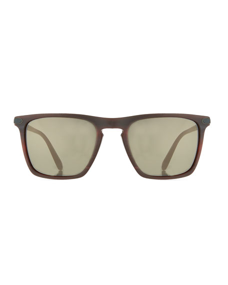 Rue de Sèvres 54 Square Acetate Sunglasses, St. Emilion/Carbon Gray