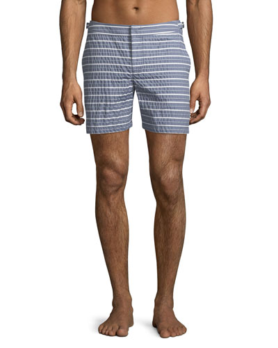 Bulldog Found Stripe Swim Trunks