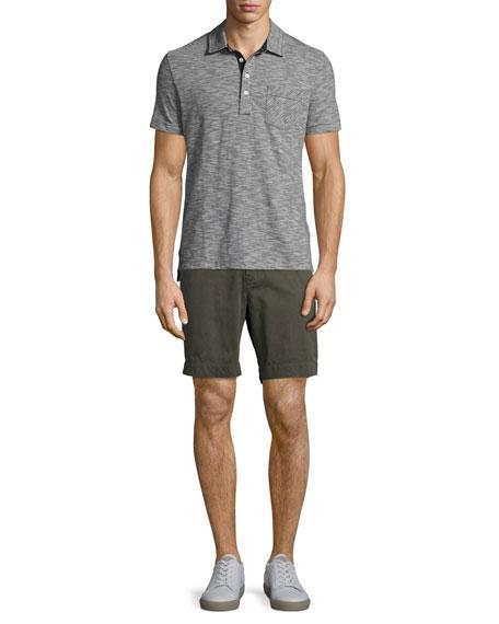 Ombre Striped Polo Shirt