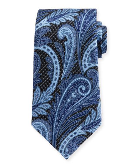 3D Paisley Silk Tie