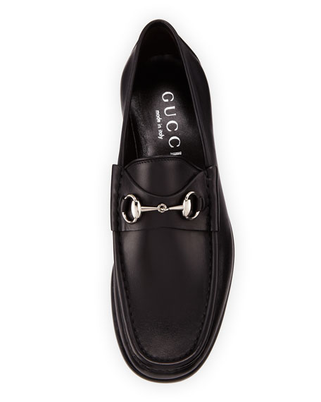 Classic Leather Horsebit Loafer, Black