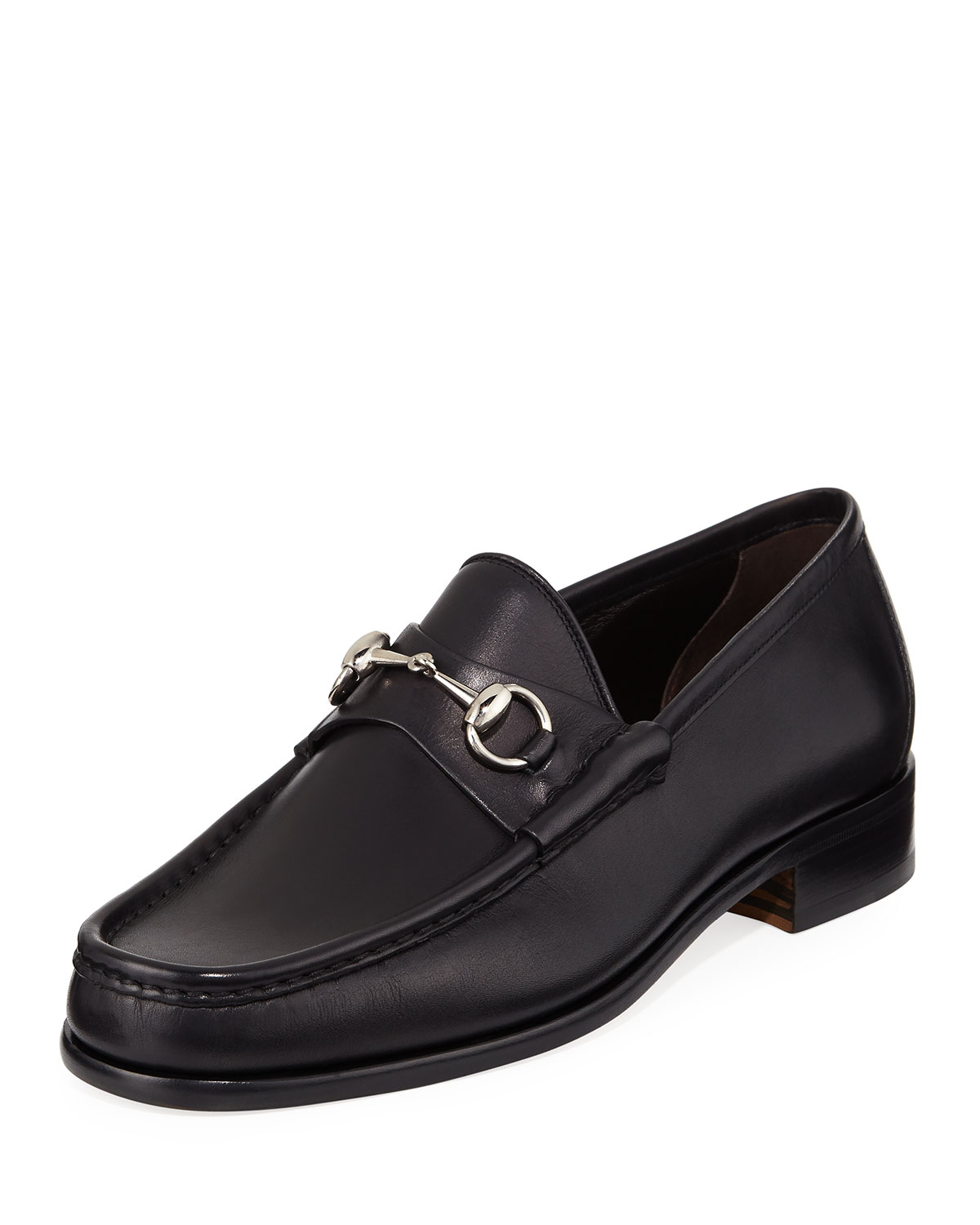 adaa32f0a19 Gucci Classic Leather Horsebit Loafer