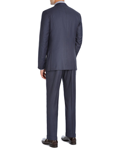 Striped Super 140s Wool Two-Piece Suit