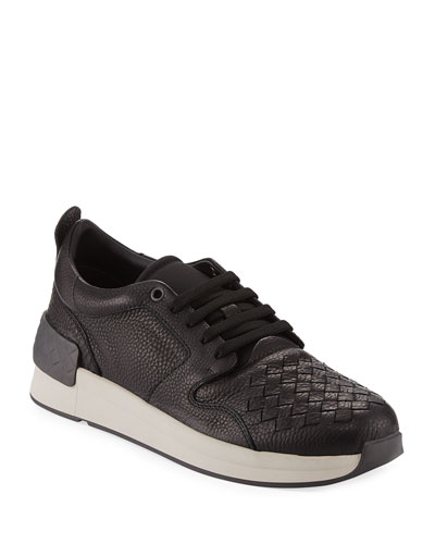 Intrecciato Leather Low-Top Sneaker