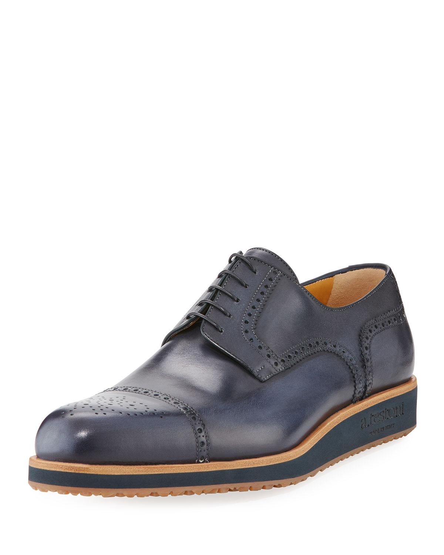 A.TESTONILeather Brogue Derby Shoes jrhGcUx