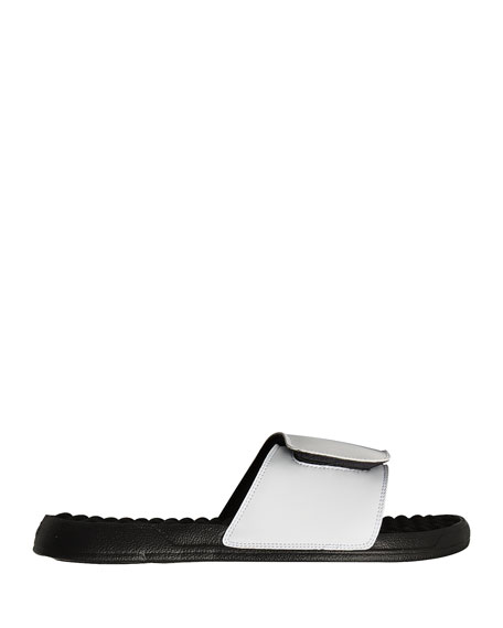 Men's NBA Retro Legends Shaquille O'Neal #32 Jersey Slide Sandals, White