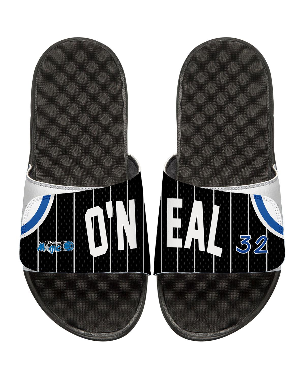 ISlideMen s NBA Retro Legends Shaquille O Neal  32 Jersey Slide Sandals 1805558827