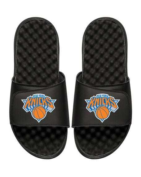 Men's NBA New York Nicks Primary Slide Sandals, Black