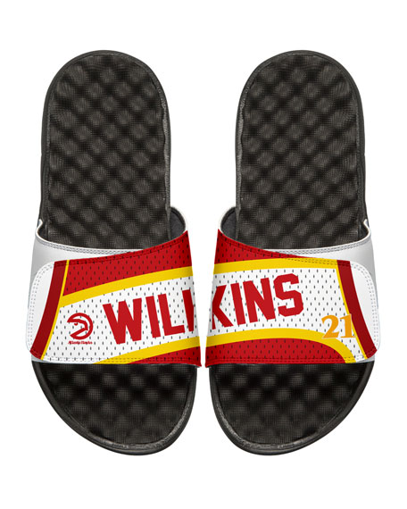 Men's NBA Retro Legends Dominique Wilkins #21 Jersey Slide Sandals, White