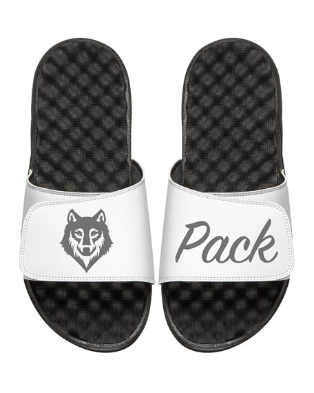 Men's Wolf Pack Slide Sandals, White