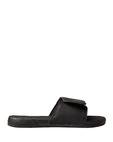 Men's Star Slide Sandals, Black