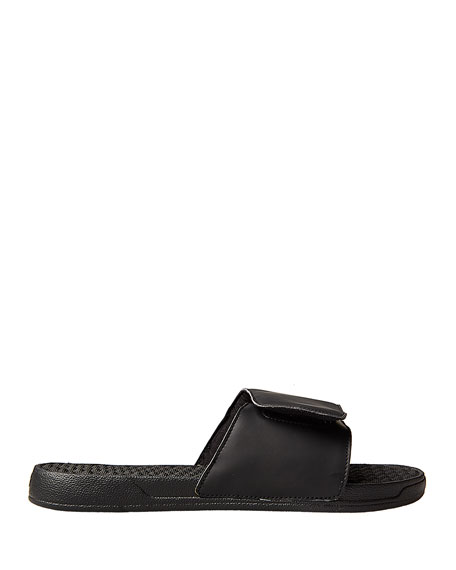 Men's Wing-Print Slide Sandals, Black