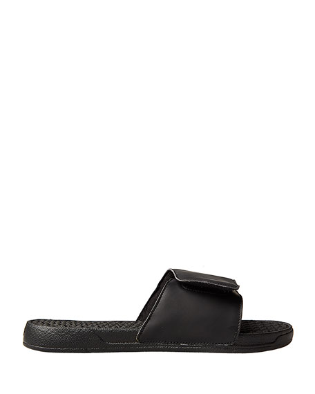 Men's Left & Right Slide Sandals, Black