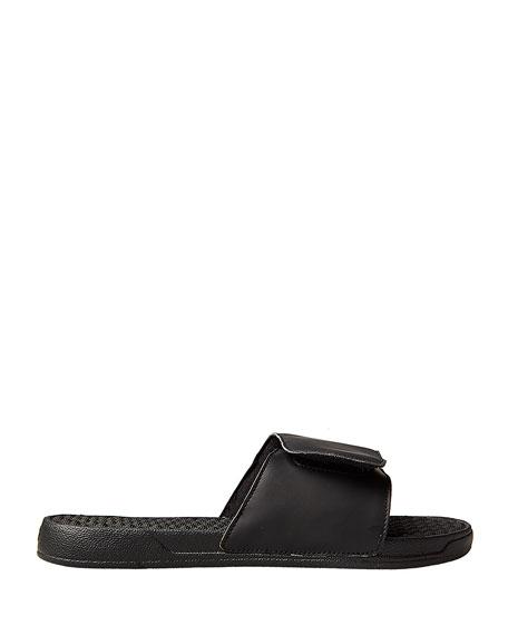 Left & Right Slide Sandal, Black