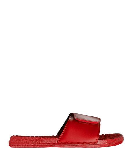 Men's Keep It 100% Emoji Slide Sandals, Red