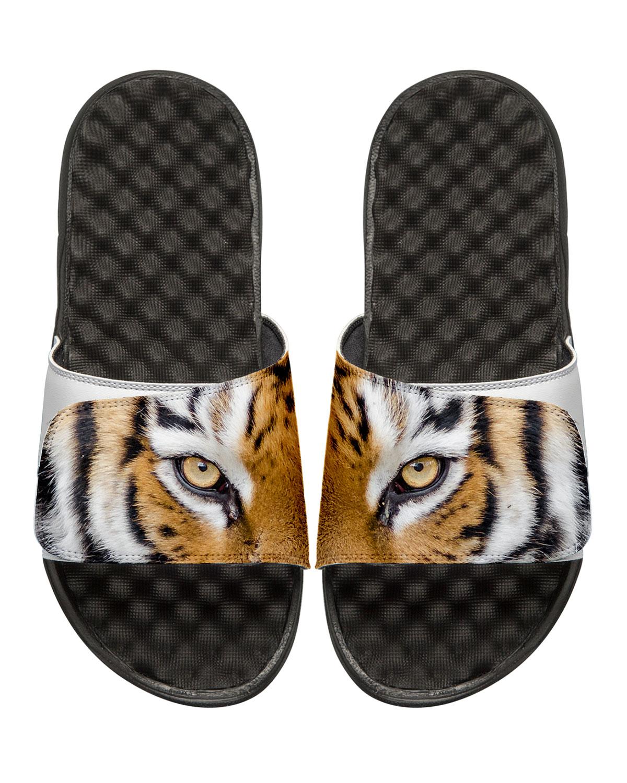ISlide Men's Tiger Eyes Slide Sandals, White/Black ...