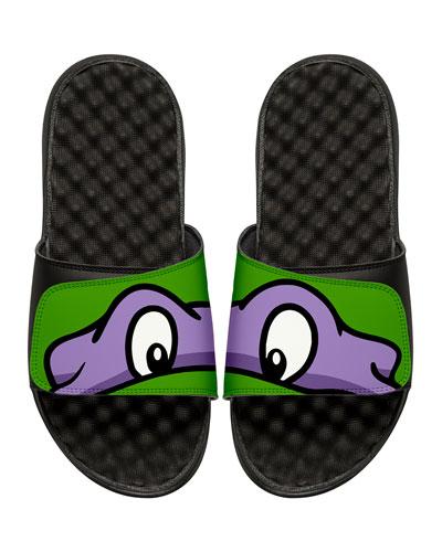 Men's Teenage Mutant Ninja Turtles Donatello Slide Sandals  Black