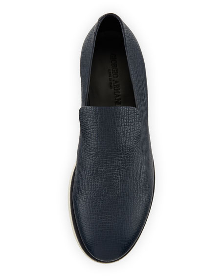 Creta Leather Slip-On Shoe, Blue