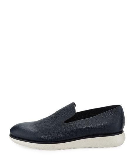 Creta Leather Slip-On Shoe, Blue