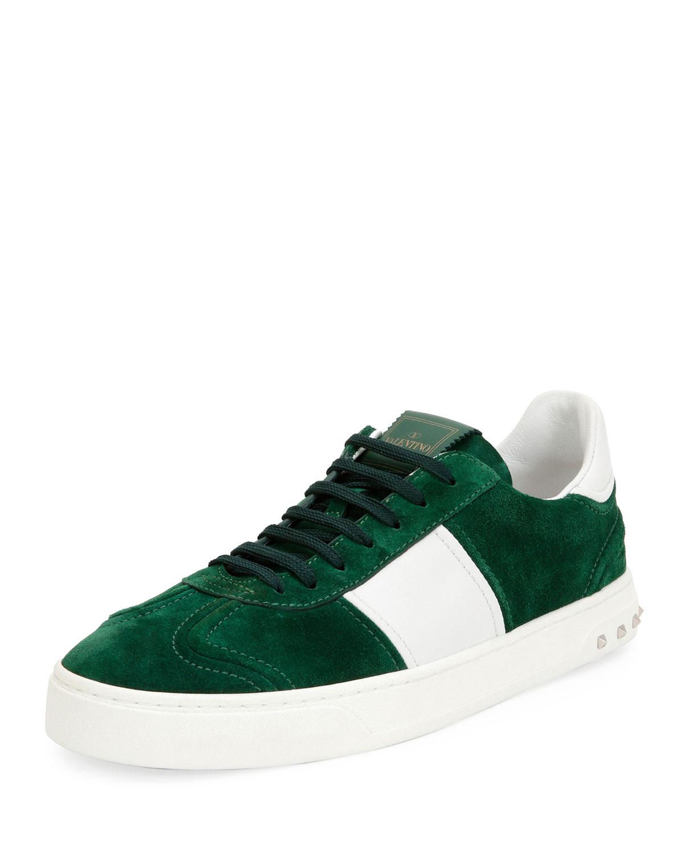96d216dda869e Valentino Garavani Men's Fly Suede Low-Top Sneakers | Neiman Marcus