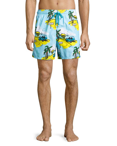 Moorea St. Tropez Swim Trunks, Blue
