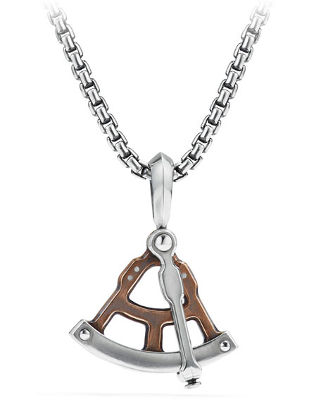David Yurman Men's 23mm Maritime® Sextant Amulet