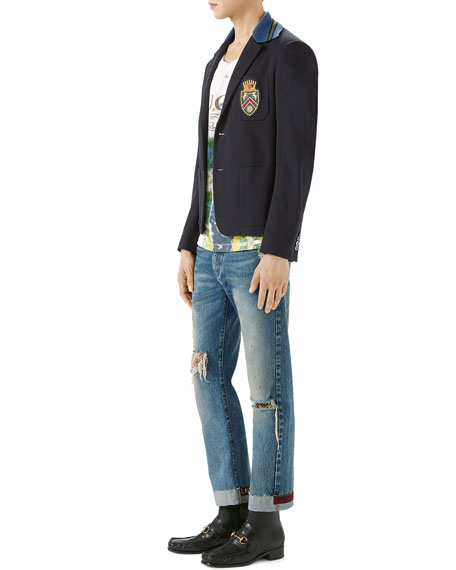 Cambridge Cotton Jacket with Crest