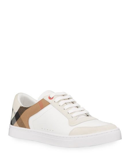 Luxury Men Honour Leather Sneakers White - C7L2312202