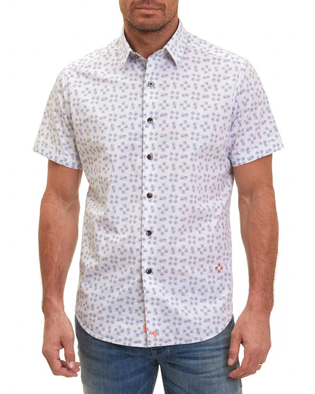 Robert Graham Flip-Flop Short-Sleeve Sport Shirt, White
