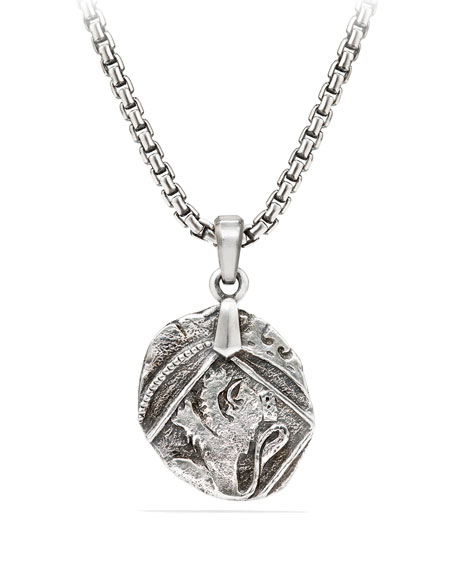 David Yurman Men's 23mm Sterling Silver Shipwreck Coin