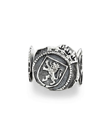 David Yurman Men's Shipwreck Signet Coin Ring, 20mm