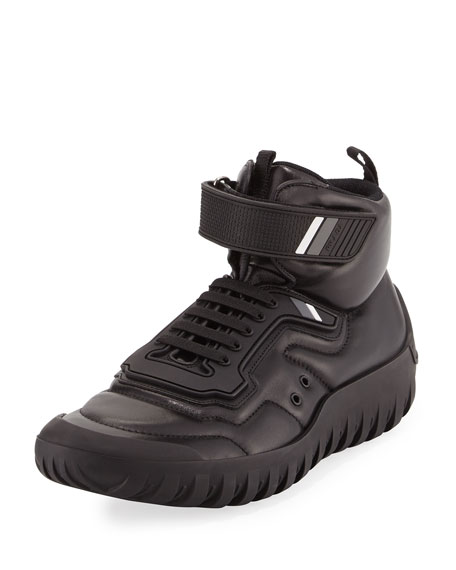 Prada High-Top Sneaker Sport Boot, Black