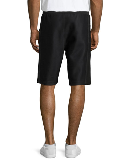 Scuba Mesh Sweat Shorts, Black