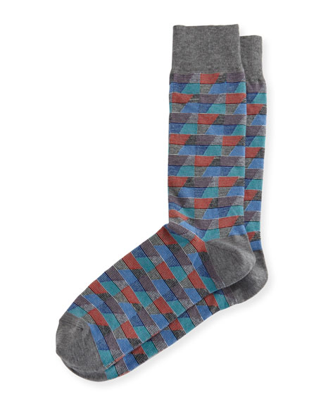 Neiman Marcus Geometric Millerighe Socks