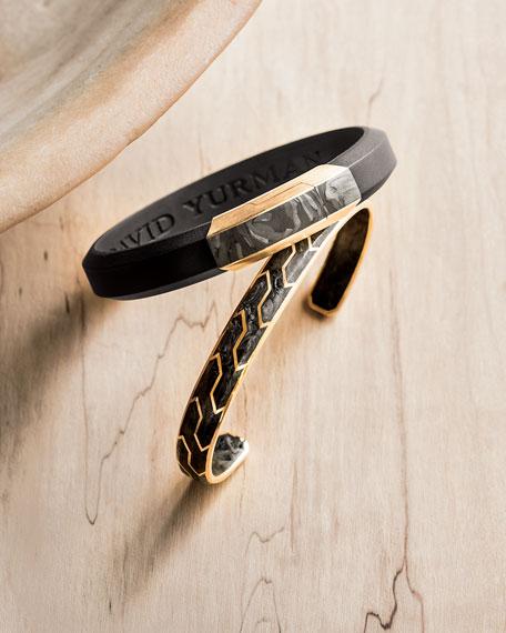 Men's Carbon & 18k Gold I.D. Bracelet